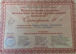 Обучение перинатальной психологии Киев, 2016